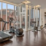 The smaller fitness facility is just for the homeowners.