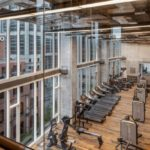 The larger fitness center is for the whole building.