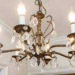 Find the architectural touches like this beautiful chandelier to delight!