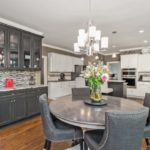 """The breakfast nook includes a gorgeous """"butlers pantry"""" built in with wine cooler, wine rack and plenty of storage space for all your dishes."""