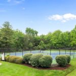 Tennis courts are also available for use by homeowners.