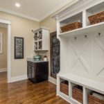 The mud room includes lots of space for all the everyday living stuff you want to keep contained.