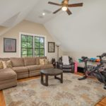 The bonus room over the garage is a great place for entertaining or exercise or just relaxing.